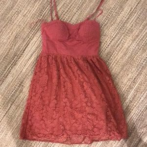Lace American Eagle rose colored dress xs